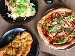 Stellarossa cafes serve pizzas, pastas, salads, all day breakfast